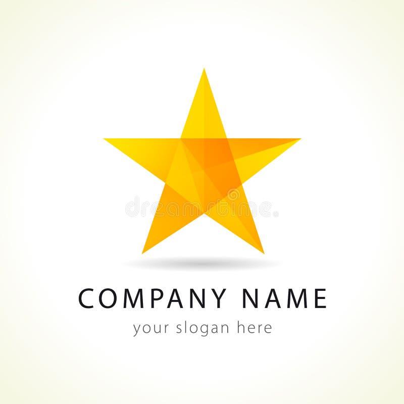 Logo della stella di vettore illustrazione di stock