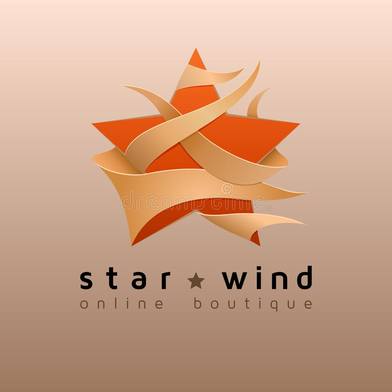 Logo della stella - emblema per il boutique online Illustrazione di vettore royalty illustrazione gratis