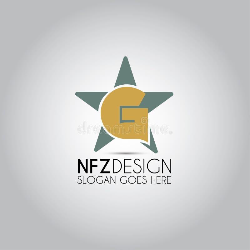 Logo della stella della lettera di G illustrazione di stock