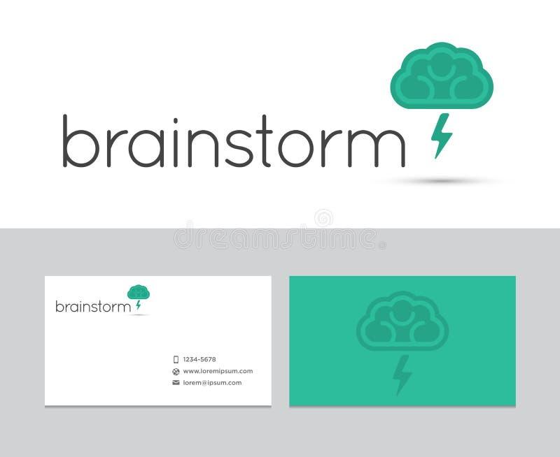 Logo della tempesta di cervello illustrazione di stock