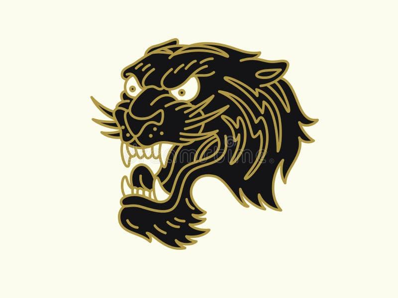 Logo della tigre fotografia stock