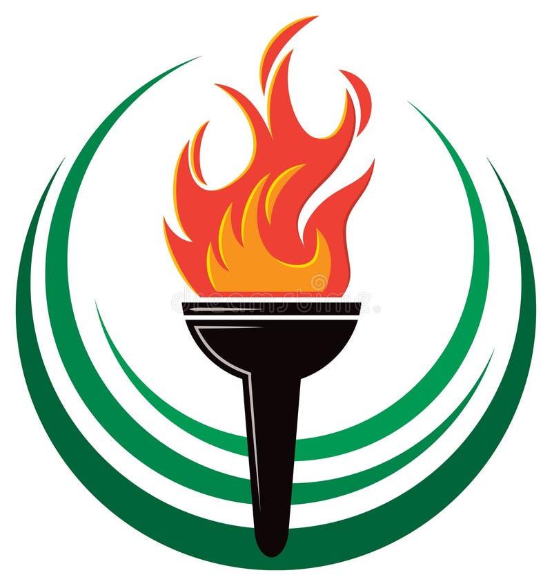 Logo della torcia della fiamma royalty illustrazione gratis