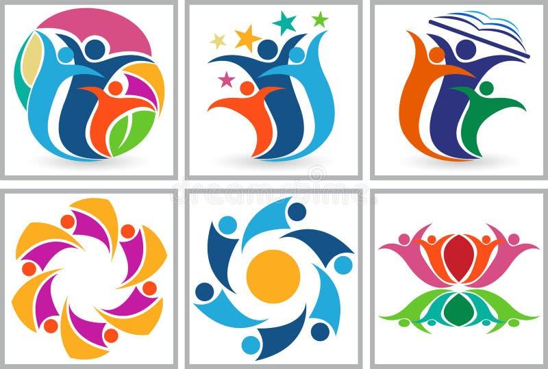 Logo delle coppie del cerchio illustrazione di stock
