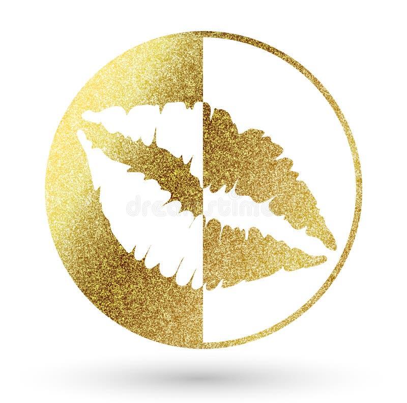 Logo delle labbra illustrazione vettoriale