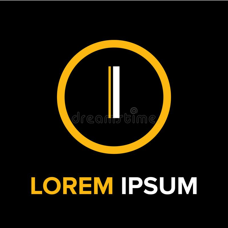 Logo delle lettere i per l'affare fotografie stock libere da diritti