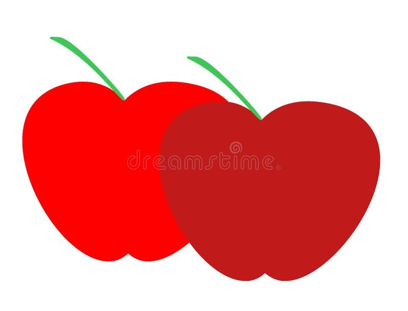 Logo delle mele per l'affare di importazione dell'esportazione illustrazione di stock
