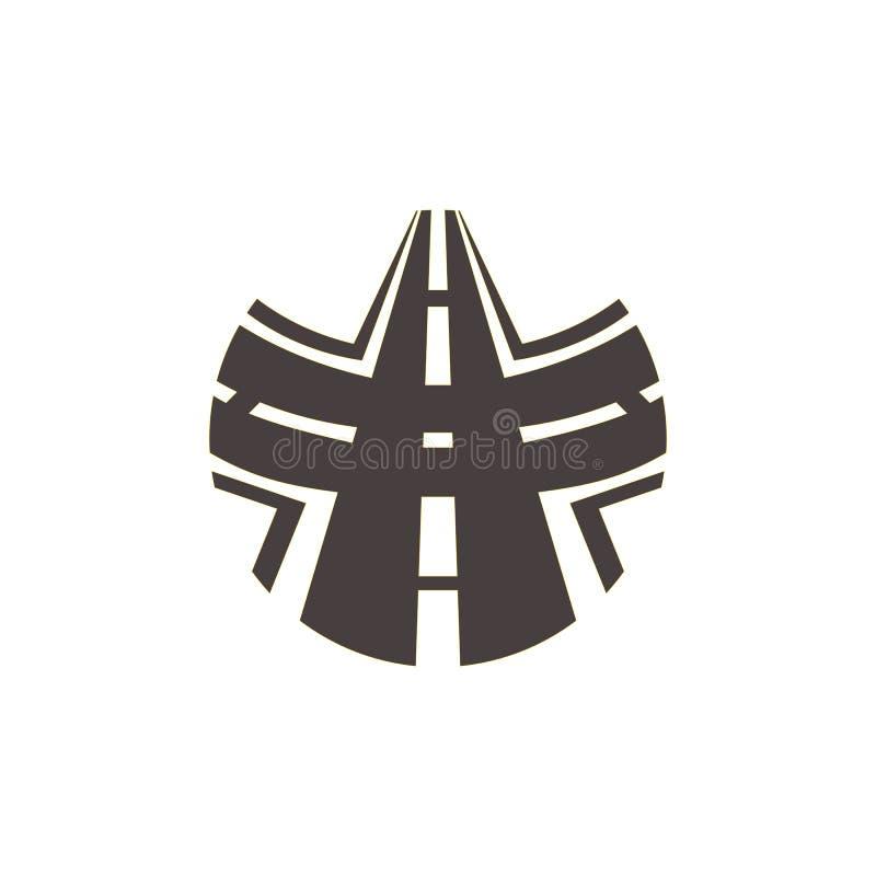 Logo delle strade trasversali royalty illustrazione gratis