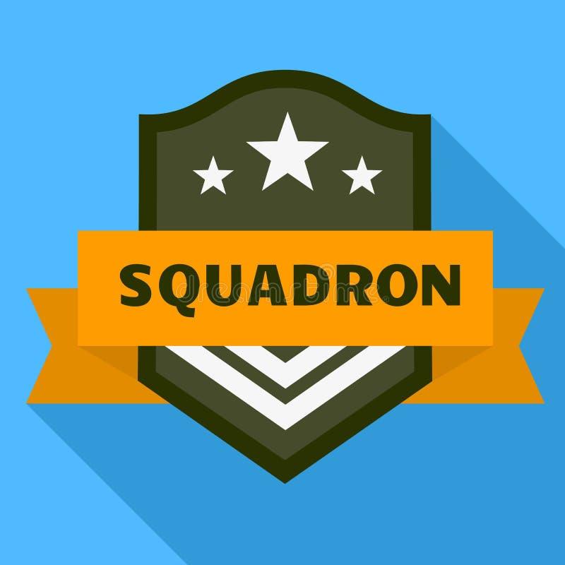 Logo dello squadrone di aria, stile piano illustrazione vettoriale