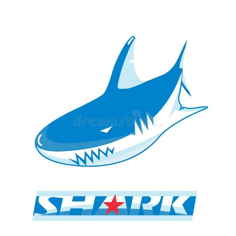 Logo dello squalo per un club o una squadra di hockey di sport royalty illustrazione gratis