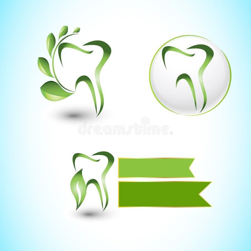 Logo dentaire de clinique illustration libre de droits