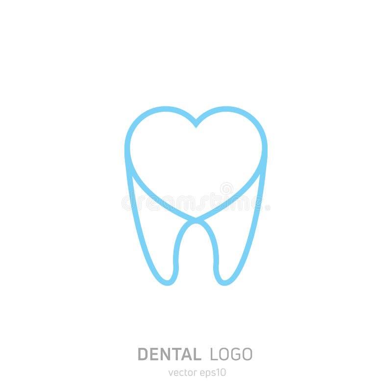 Logo dentaire de clinique Guérit l'icône de dents Bureau de dentiste illustration stock