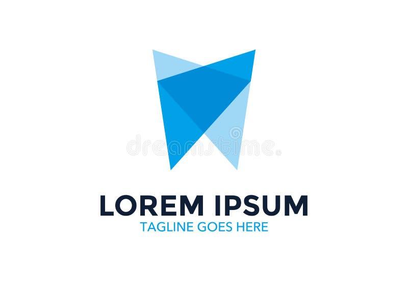 Logo dentaire unique et hors concours Illustration de vecteur editable illustration libre de droits
