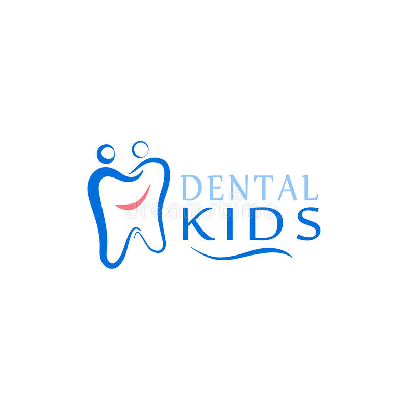 Logo dental care clinic, dentistry for kids. Teeth abstract icons. Can be used as logo for dental, dentist or stomatology clinic, teeth care and health concept stock illustration