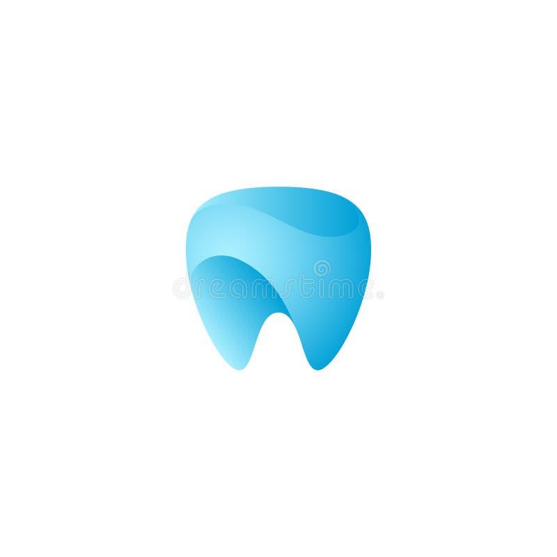 Logo dentario dell'icona di salute del dente unico moderno illustrazione vettoriale