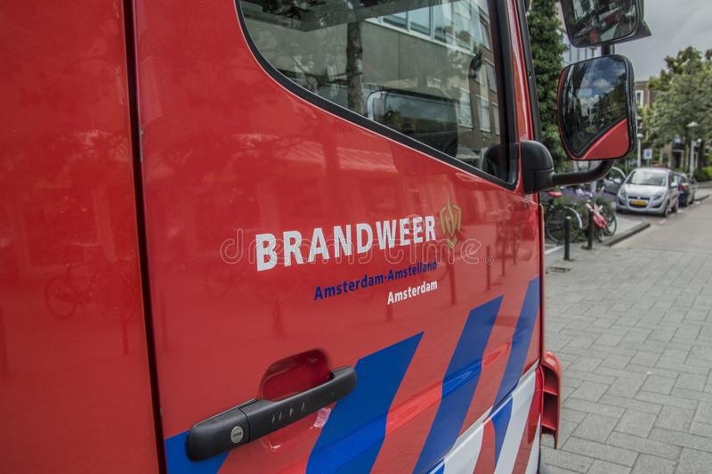 Logo Fire Department Amsterdam The Netherlands. Logo From The Department At Amsterdam The Netherlands 2018 royalty free stock photo