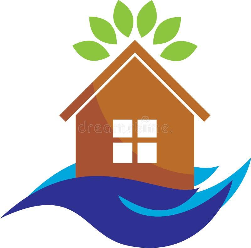Logo der häuslichen Pflege lizenzfreie abbildung
