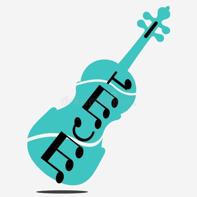 Logo der Violine und der Musik lizenzfreie stockbilder