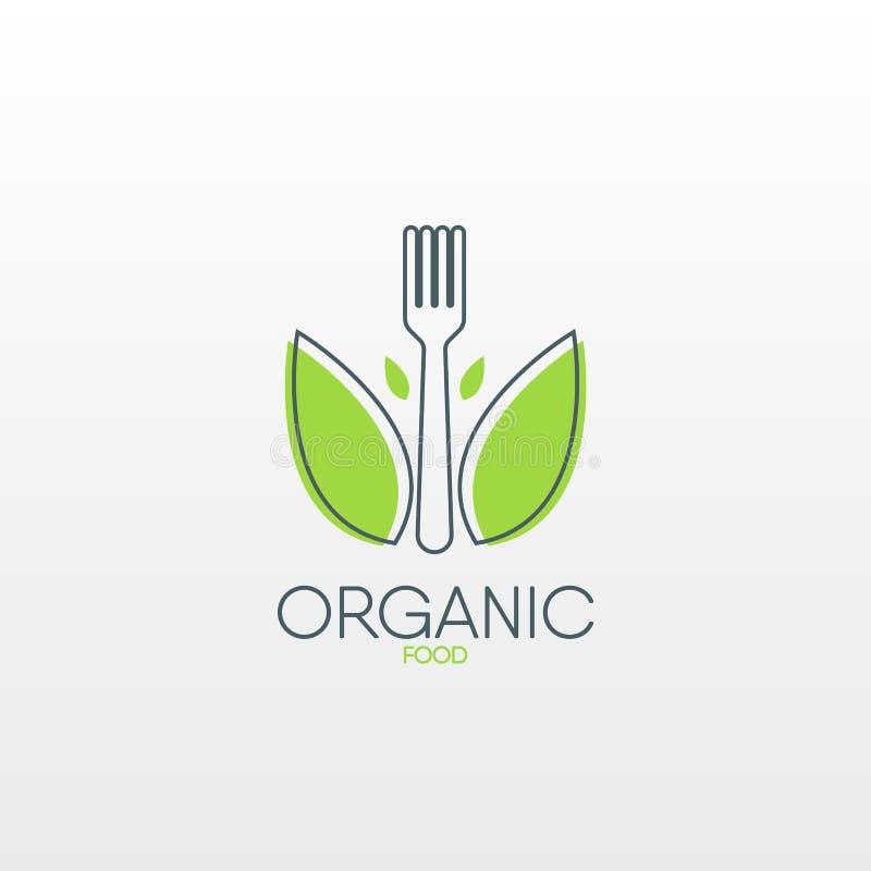 Logo des biologischen Lebensmittels Gesunde Lebensmittelikone vektor abbildung