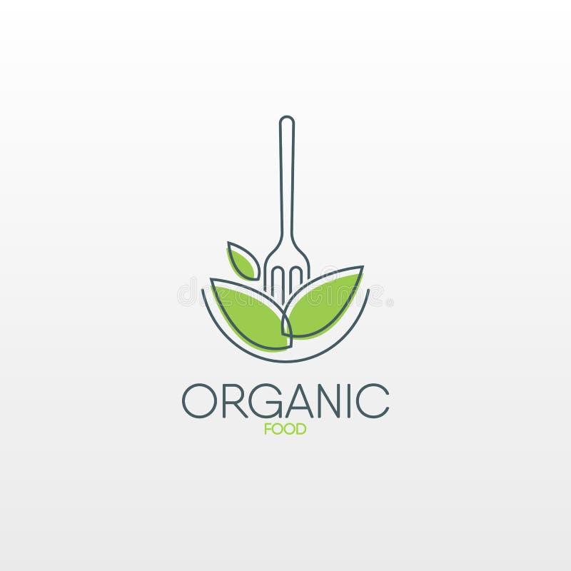 Logo des biologischen Lebensmittels Gesunde Lebensmittelikone stock abbildung