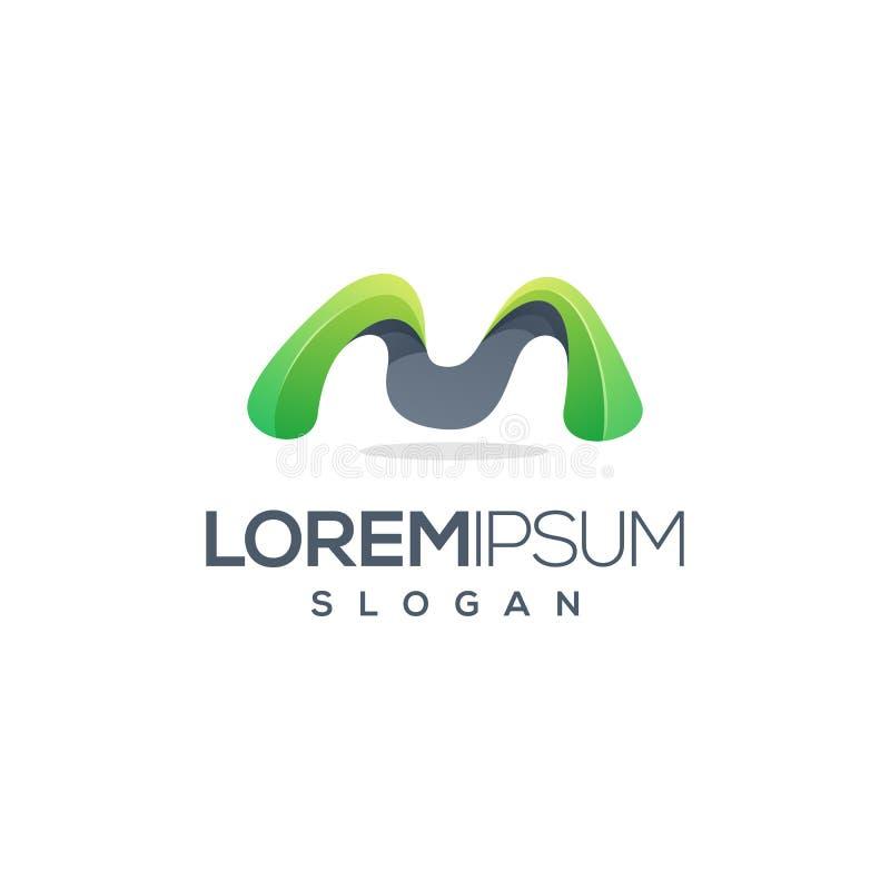 Logo des Buchstaben m gebrauchsfertig lizenzfreie abbildung