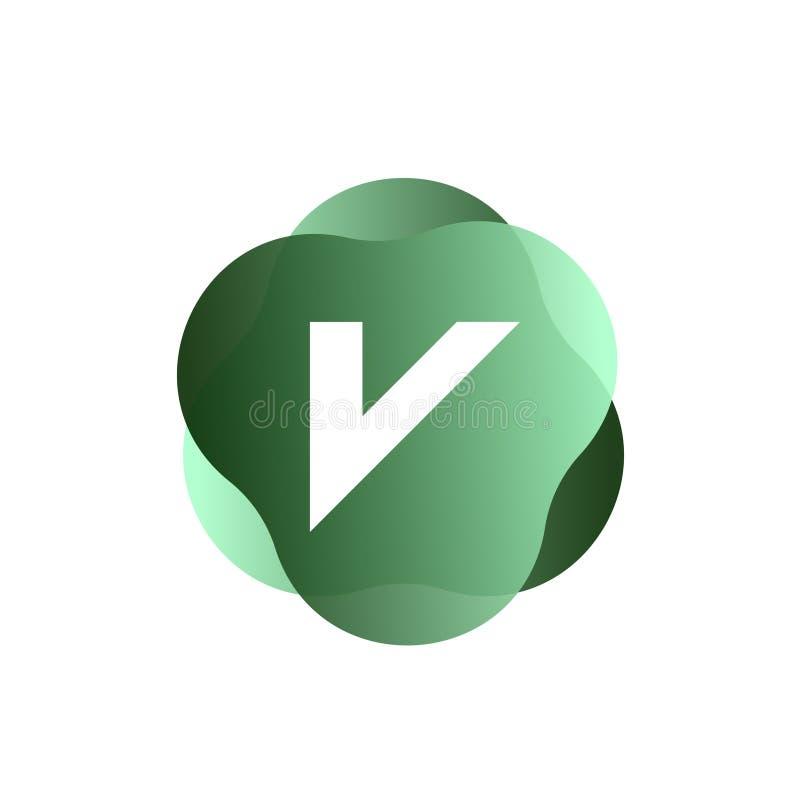 Logo des Buchstaben V lizenzfreie abbildung