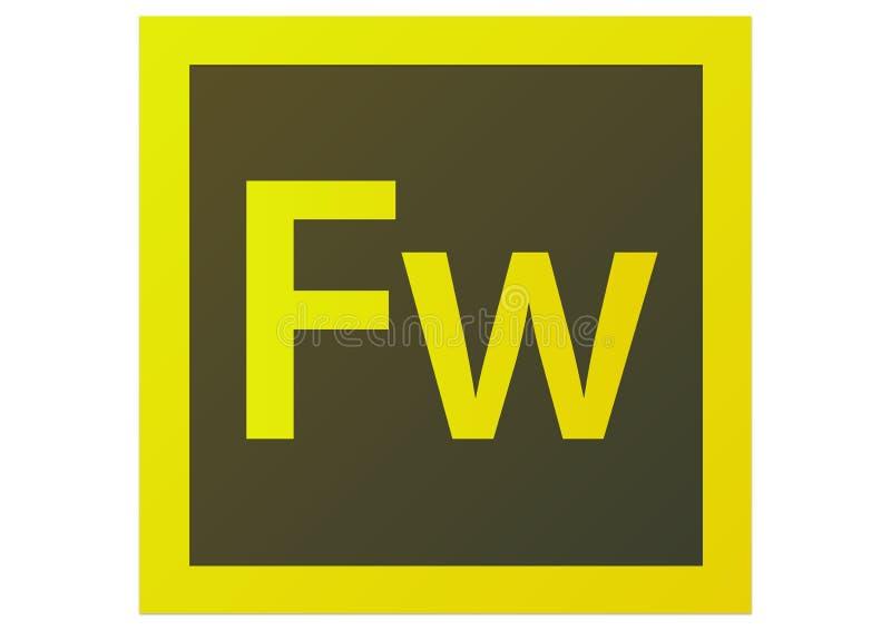 Logo des feux d'artifice CS6 d'Adobe illustration libre de droits