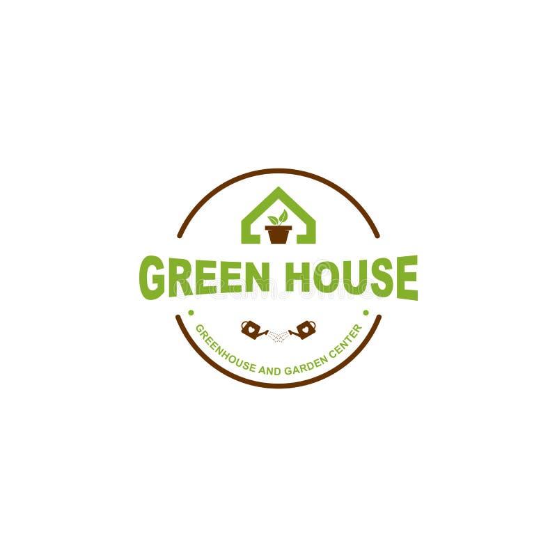 Logo des gr?nen Hauses stock abbildung