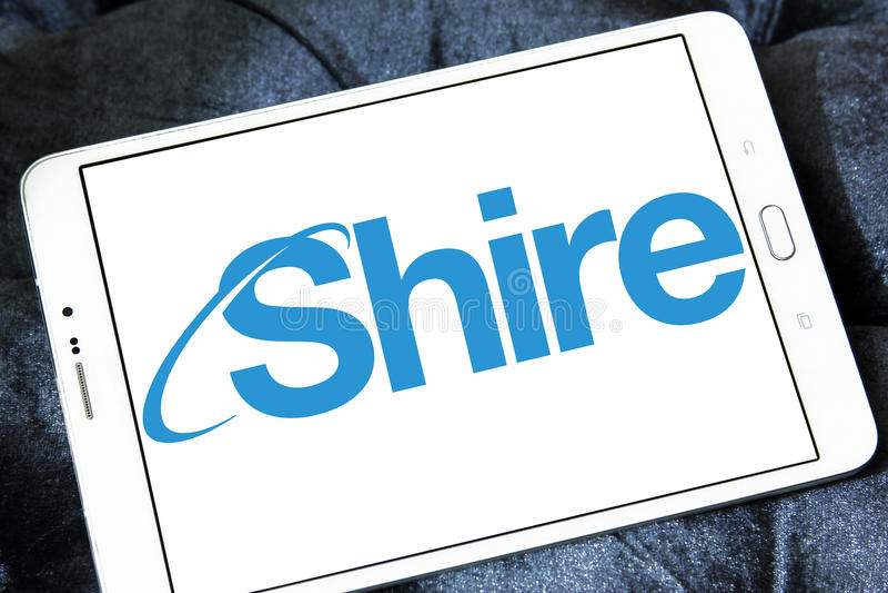 Logo des Grafschaftspharmazeutischen unternehmens stockfoto