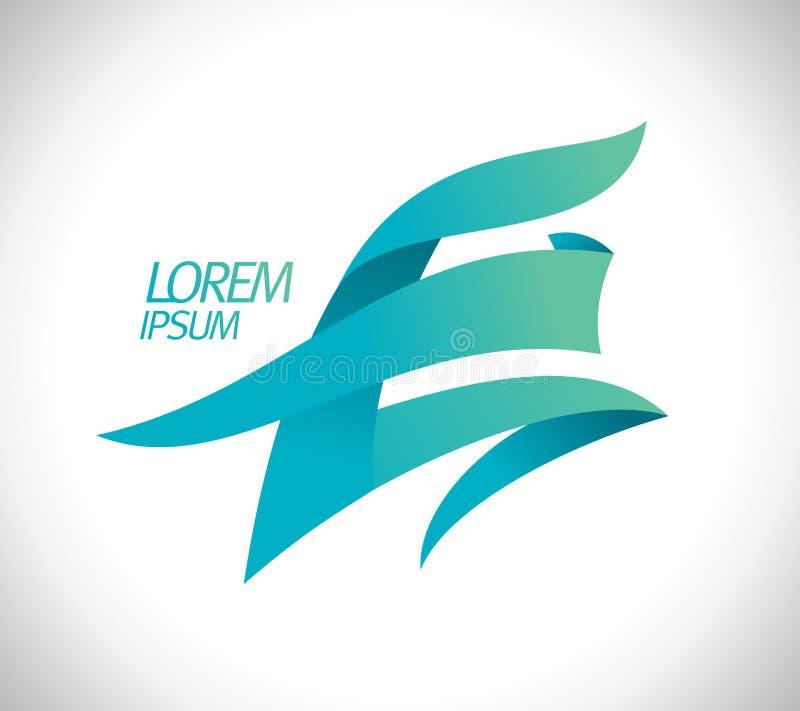 Logo des Kunstbuchstaben E vektor abbildung