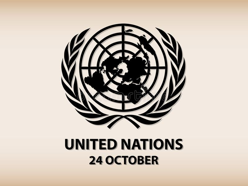 Logo des Nations Unies illustration de vecteur