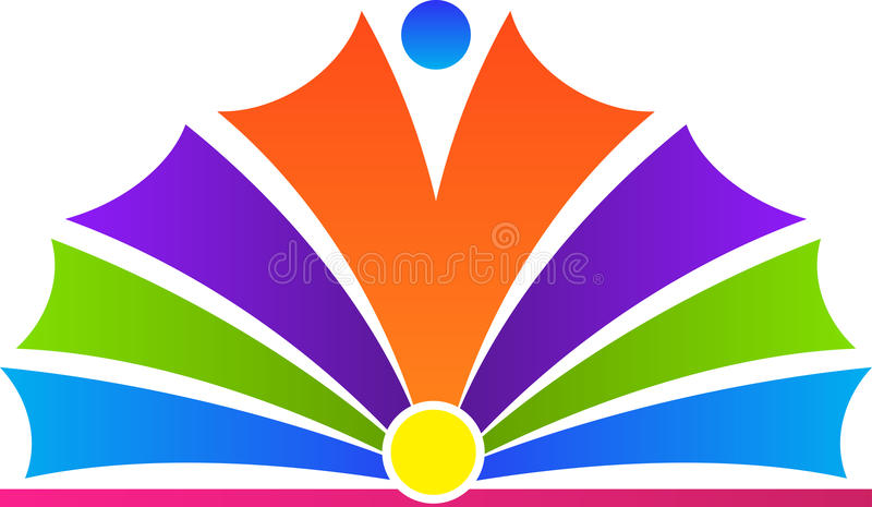 Logo des offenen Buches lizenzfreie abbildung