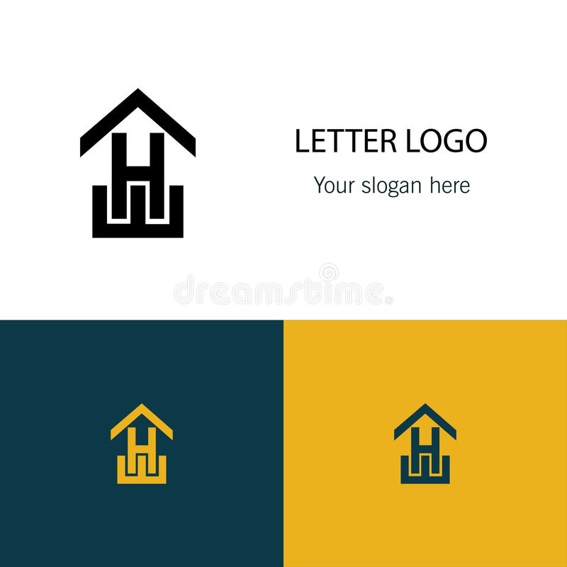 Logo des Pfeilbuchstaben H stock abbildung