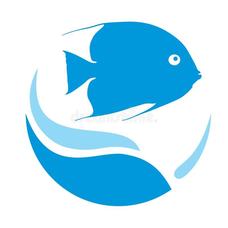 Logo des poissons bleus illustration stock