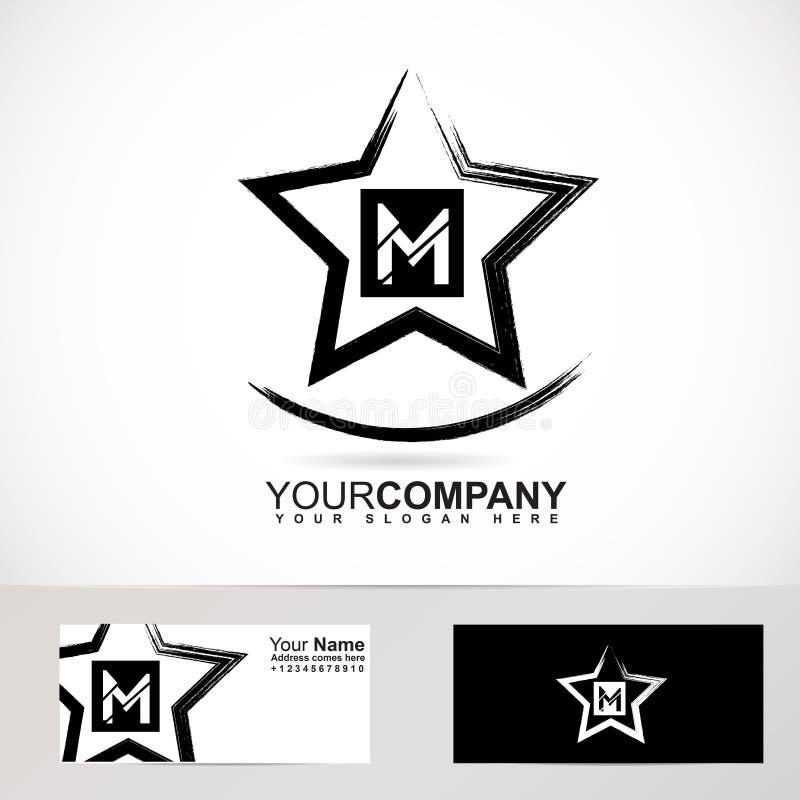 Logo des Schmutzstern-Buchstaben M vektor abbildung