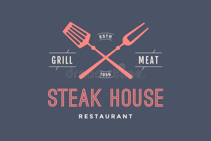 Logo des Steakhauses lizenzfreie abbildung