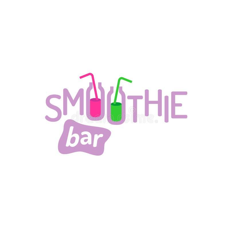 Logo des textes de Smoothie illustration de vecteur