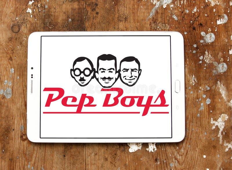 Logo des véhicules à moteur de vente au détail de marché des accessoires de Pep Boys image stock