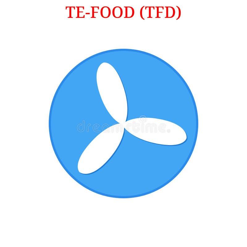 Logo des Vektors TE-FOOD TFD vektor abbildung