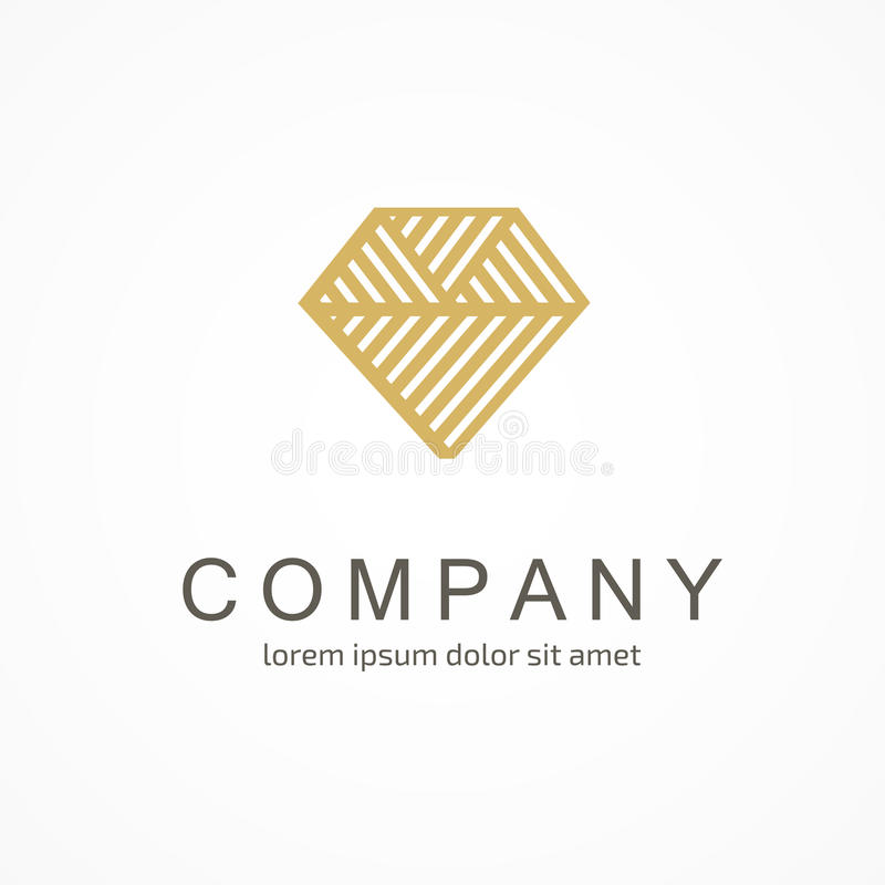 Logo design abstract diamond vector template stock images