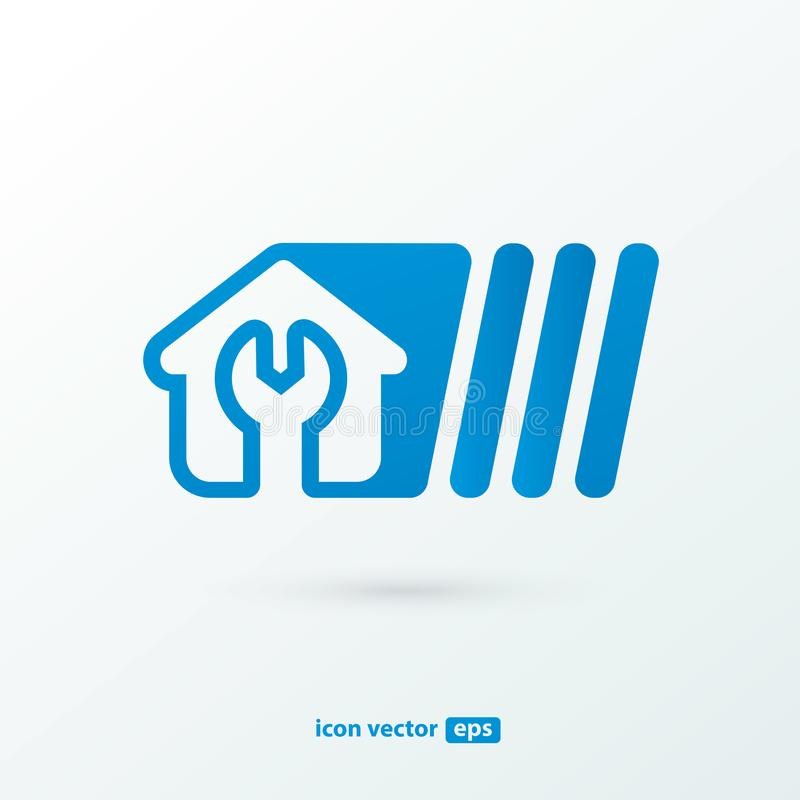 Logo design abstract home repair vector template. royalty free stock images