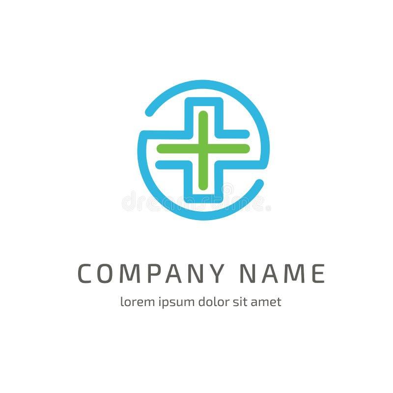 Logo design abstract medical vector template stock photo