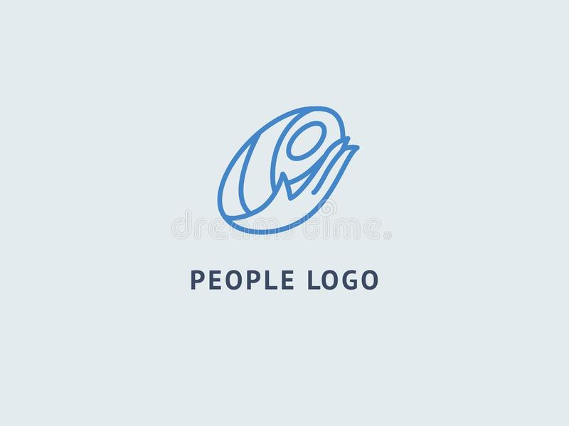 Logo design abstract mother and baby  template. Illustration design of logotype business pregnancy symbol. Vector happy stock illustration