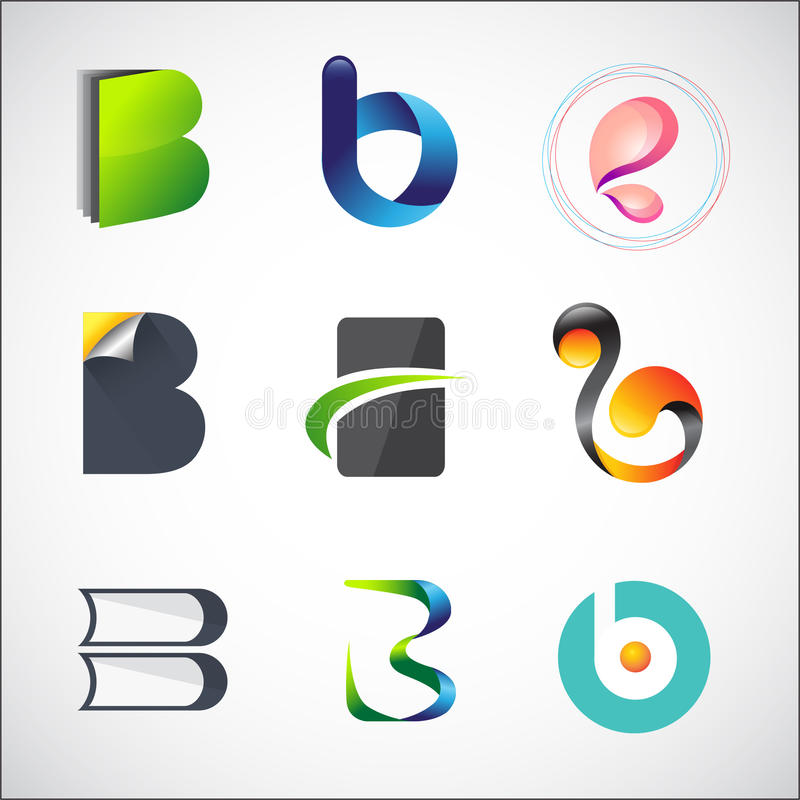 Logo design. Business logo design based on letter B royalty free illustration
