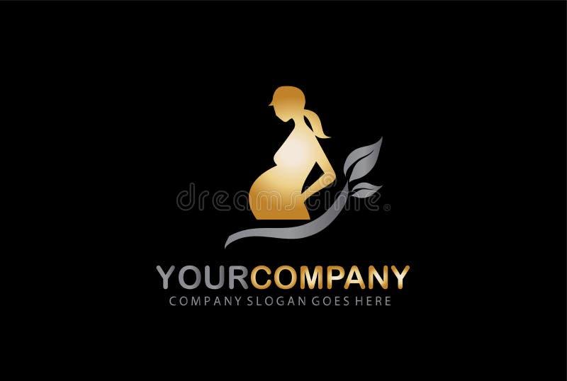 Logo Design Company Concept grávido ilustração royalty free