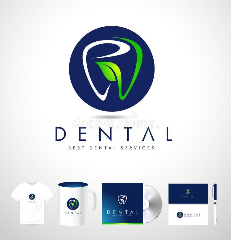 Logo Design dental Dentista Logo Brand Identity ilustração stock