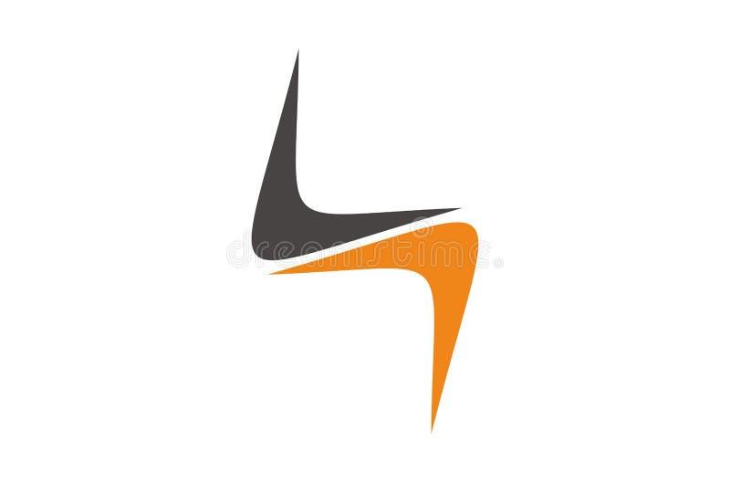Logo design. Double arrow letter v logo design royalty free illustration