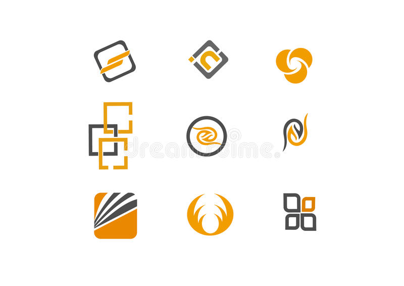 9 logo and design elements royalty free stock image