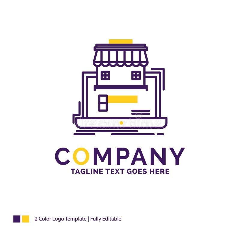 Logo Design For för företagsnamn affär, marknadsplats, organisation royaltyfri illustrationer