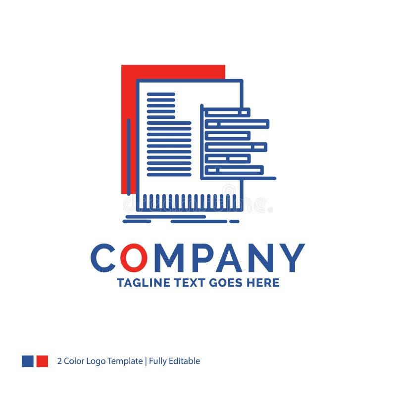 Logo Design For för företagsnamn diagram, data, graf, rapporter, valuat vektor illustrationer
