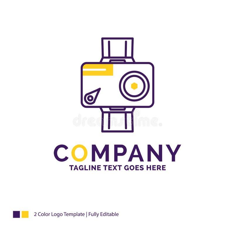 Logo Design For för företagsnamn kamera, handling, digitalt som är video, pho royaltyfri illustrationer